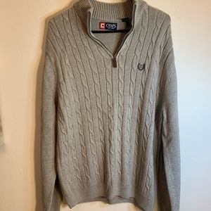 Chaps Men's Large Grey Sweater